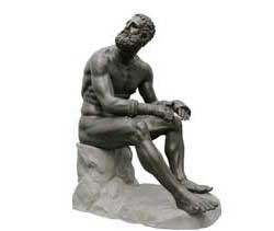 Скулптура на боксьор в древна гърция