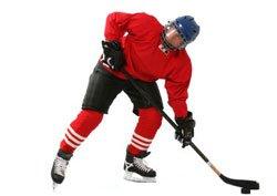 Хокеист в атака