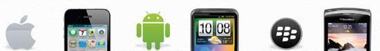 Лого на Apple, Android и BlackBerry