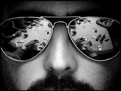 Слънчеви очила за покер блъф