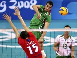 Български волейболист в атака