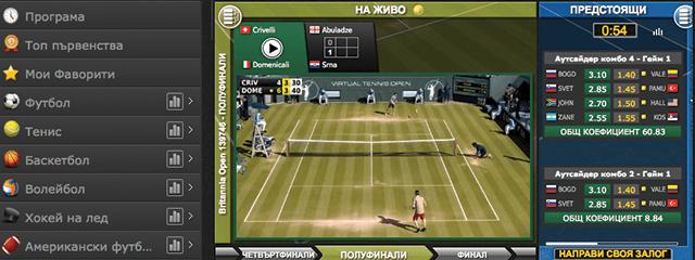 Виртуален тенис в Ефбет