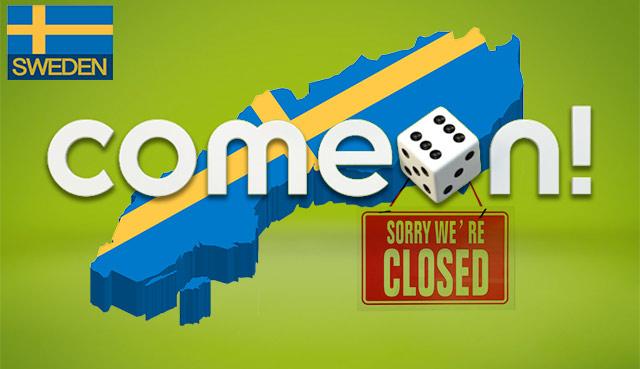 Comeon затвори казина в Швеция